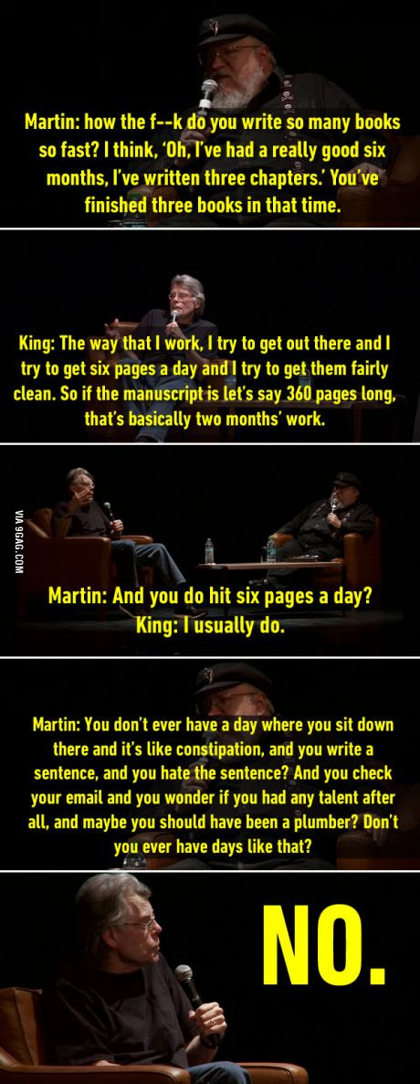 George RR Martin and Stephen King
