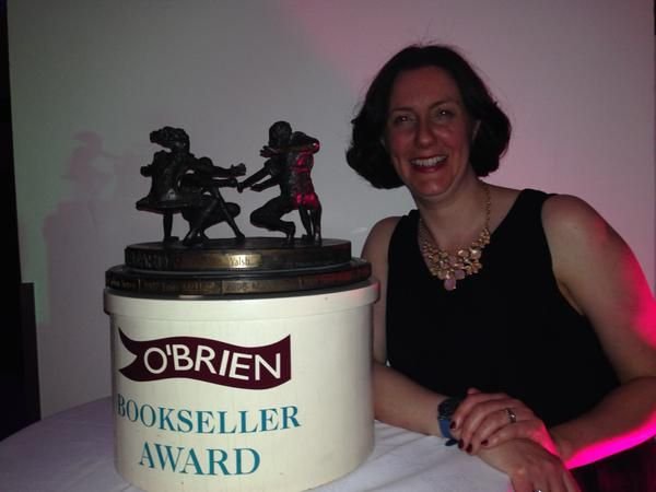 The Bookseller of the Year - Susan Walsh from Dubray!