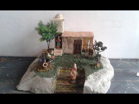 Cómo hacer belen / nacimiento de jesus /COMO HACER UN PESEBRE/hoguera para el belen - YouTube