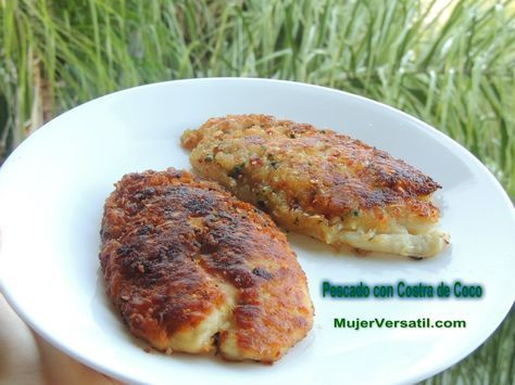 Tilapia con Costra de Coco. Me encanta la combinación de sabores y lo fácil que se prepara.