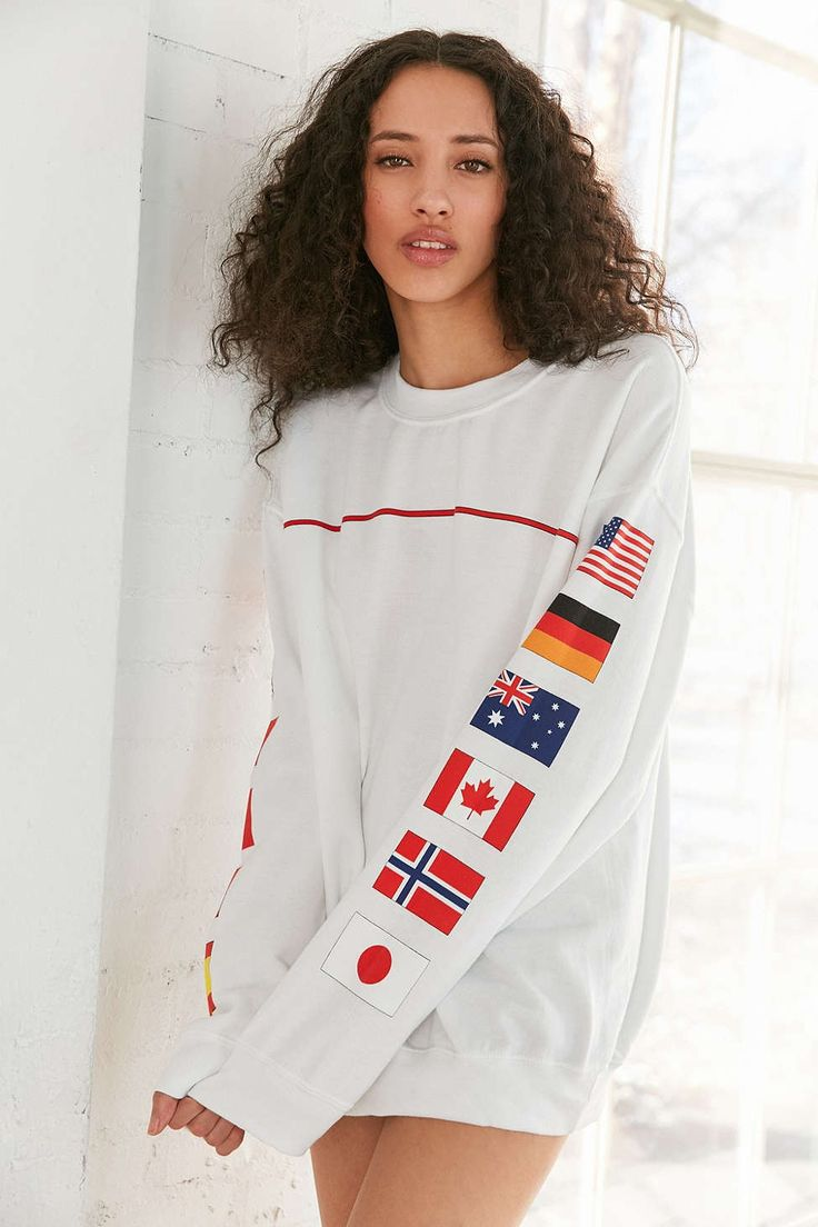 Hinds Flag Crew-Neck Sweatshirt - Urban Outfitters