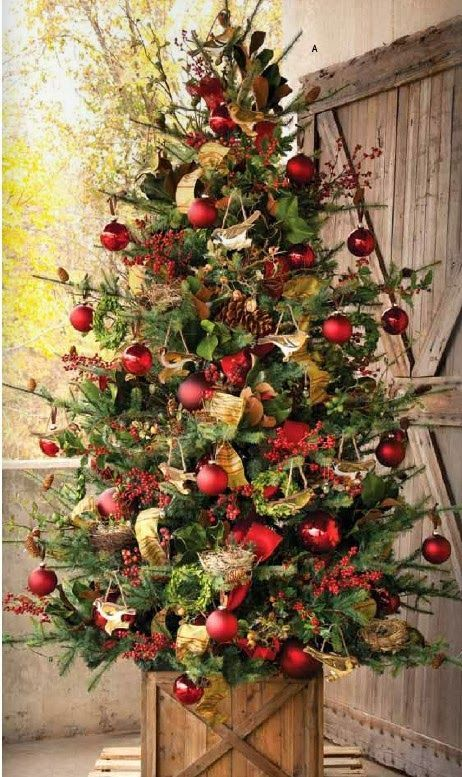 Country Decorating For Christmas Part - 21: The Best, Most Beautiful Christmas Tree Base Is..