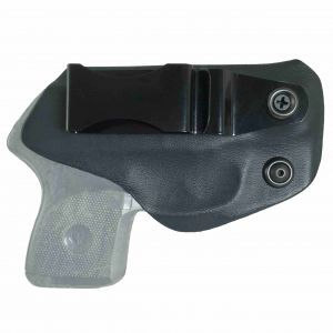 """Meet the """"Betty"""" IWB Concealed Carry Holster by Flashbang. A tuck-able inside-the-waistband holster thermoplastic holster is ideal for wearing with or without a belt on any type of clothing with an accessible waistband. This concealed carry holster can be used in so many different ways such as clipped inside a purse or to the top of a boot. It can easily be worn on your waistband or belt as a cross-carry gun holster, an appendix carry holster, or even the small of the back (SOB) holster."""