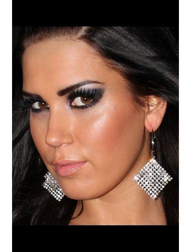 Precious Sliver Earrings With Sparking Rhinestones | Fashion Earrings | Jewelery | StringsAndMe