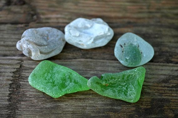 Melted sea glass Bonfire Sea Glass Set Rare by TaitallasHandmade