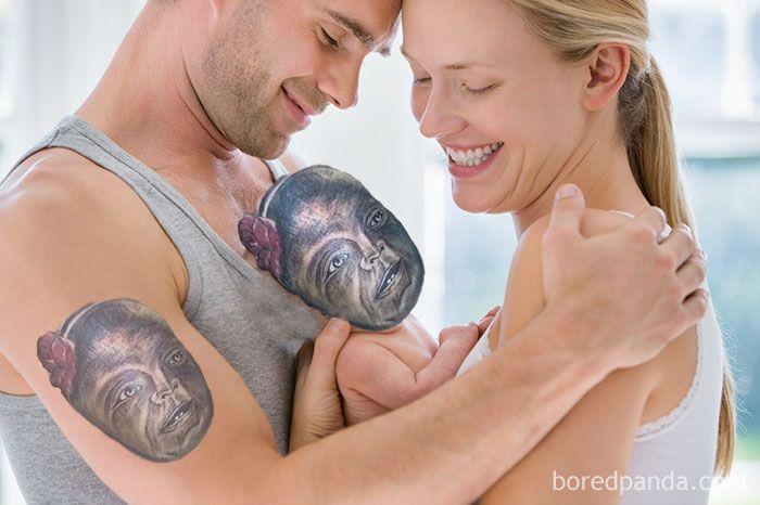 15 horribles tatouages intégrés à la réalité, c'est pas joli joli : image