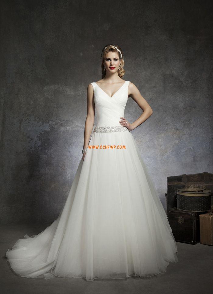 A-Lijn Omgekeerde Driehoek Tule Bruidsmode 2014