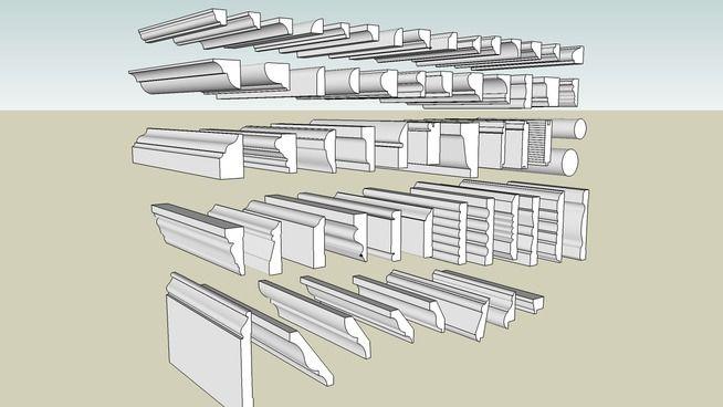 Amplia vista previa del modelo 3D de rodapes