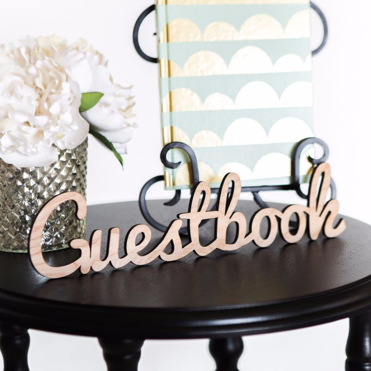 Guestbook Word Cutout for Wedding or Party