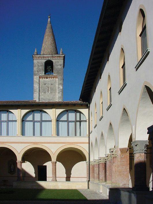 Chiostro Monastero Incoronata a Martinengo (Bergamo, Italia)