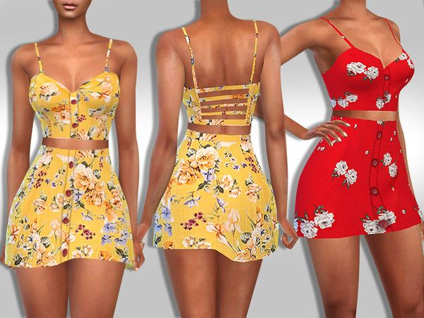 Female Two Piece Trendy Pattern Summer Outfits 2