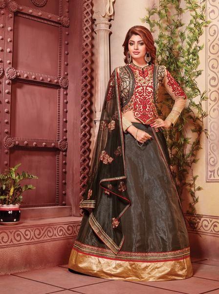 Black Artsilk Lehengas Online Shopping In India ,Indian Dresses - 1