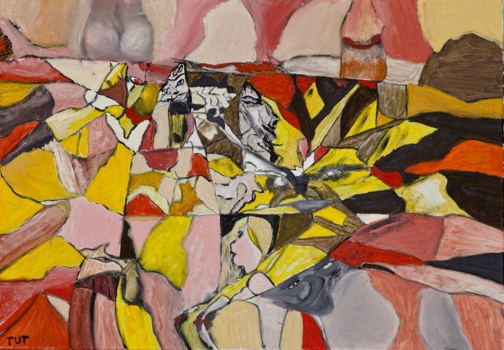 Wojciech Tut Chechliński, Życie, olej na płótnie, 70 x 100 cm, 2012 r, sygnowany (kat. 078)