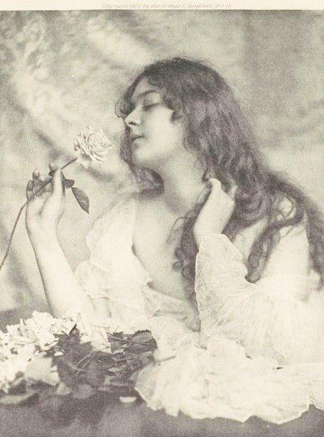 Florence Evelyn Nesbit (25 décembre 1884 - 17 janvier 1967) est une danseuse de revue américaine.  * Attirant l'attention par sa beauté frappante, elle posa pour plusieurs artistes et photographes de renom. ** Elle est considérée comme l'une des Gibson Girls les plus marquantes. *** Sa notoriété lui vient principalement de son implication dans le meurtre de son ex-amant, l'architecte Stanford White, par son premier mari, Harry Kendall Thaw (flowers portrait dancer)