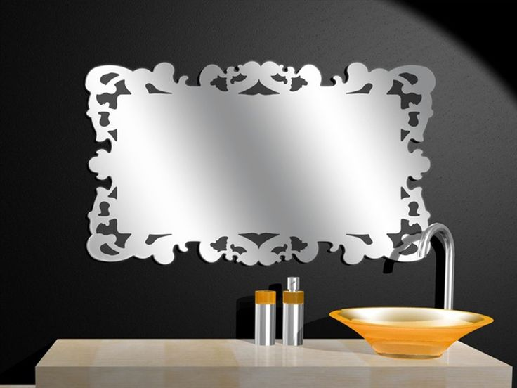 Specchio bagno rettangolare decò DECÒ by Regia | design Bruna Rapisarda, Lucarelli-Rapisarda
