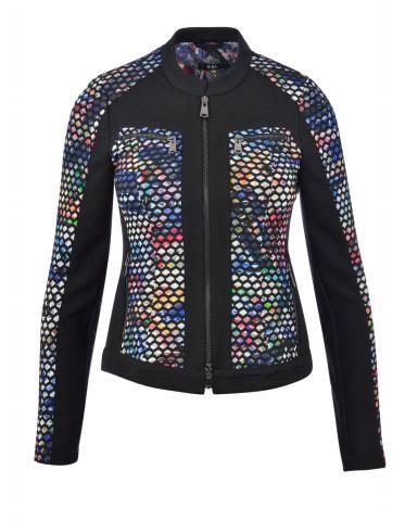 #Druckjacke mit Netz! Tolle #Damenmode findet ihr bei #Biba bei uns in der #EuropaPassage! #Look #Plonnimonni #ShopsInDerEuropaPassage #EuropaPassageHamburg #fashion #feminine, #stylish and #chic.