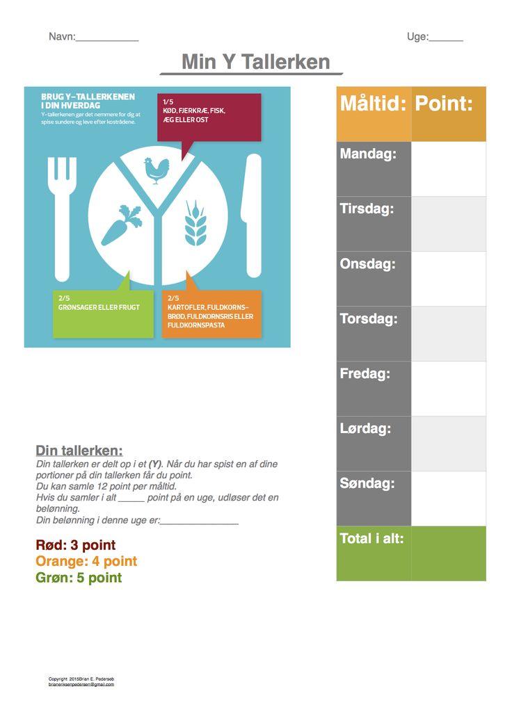 Belønning for at spise sundt og for at spise. Jeg har brugt Y modellen.