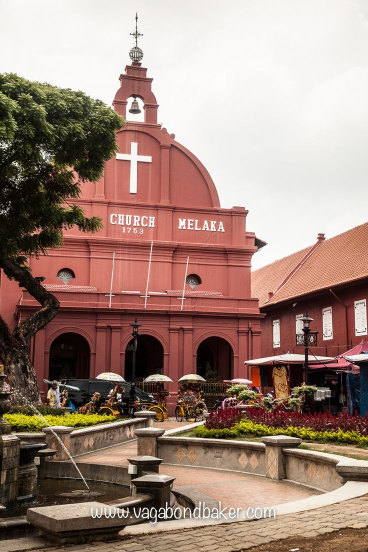 Christ Church, typically Dutch but with British alterations including a weather vane #Melaka