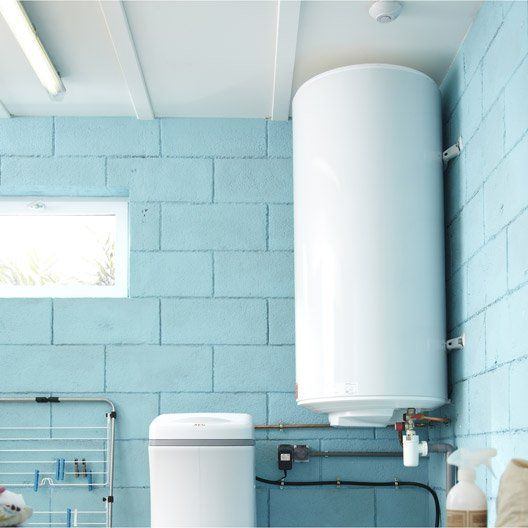 Chauffe-eau électrique vertical mural EQUATION Titane électronique, 200 l