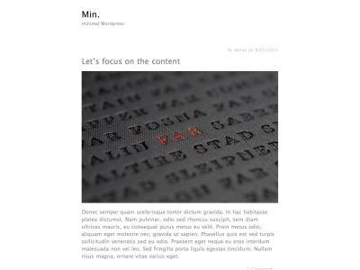 Min. free wordpress theme by Jared Erickson