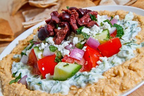Greek 7 Layer Dip: Fun Recipes, Greek Layer Dip, Greek Layered Dips, Greek Food, Appetizers, Greek Dips, Favorite Recipes, Closet Cooking, Layered Greek