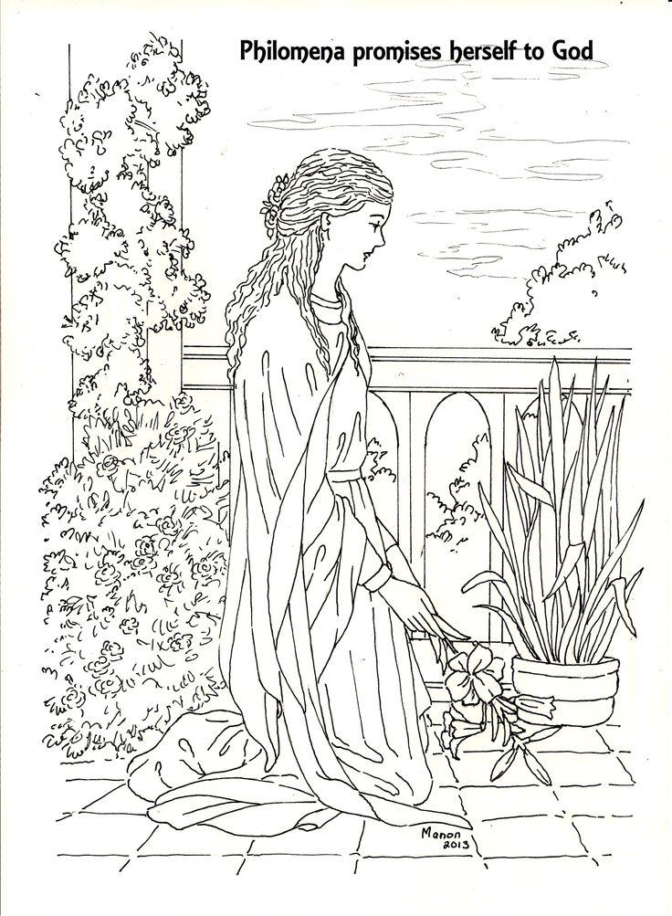 patron saint coloring pages - photo#22