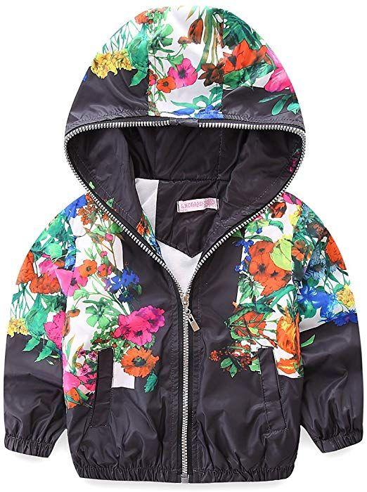 3ca6a7fcc62a Amazon.com  Mud Kingdom Little Girls Jackets Floral With Hood Coats ...