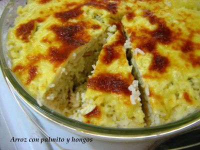 Rice with Hearts of Palm (like artichokes) from Cocina Costarricense: arroz con palmito