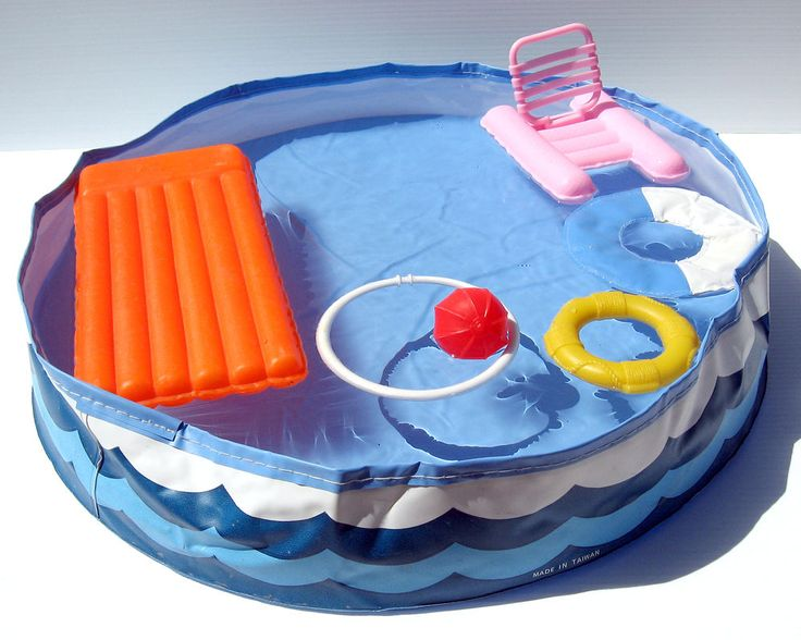 1980's Barbie Doll Swimming Pool Play Set and Accessories
