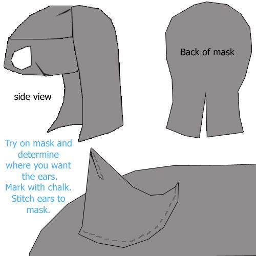 Catwoman mask | How to Make a Catwoman Mask - Catwoman Mask Pattern