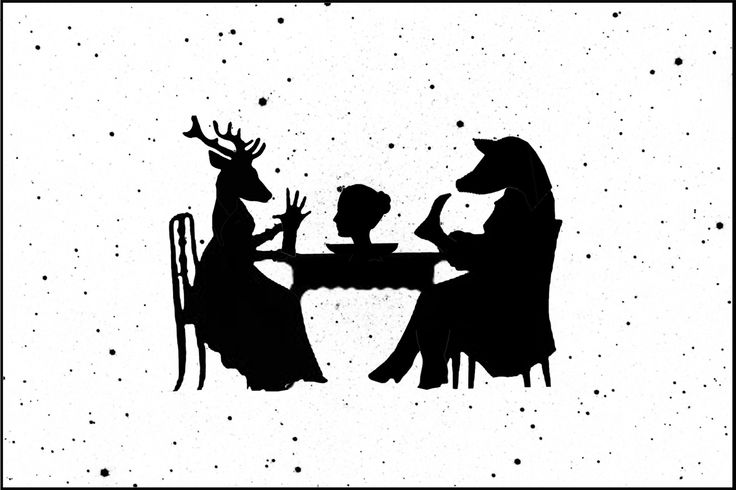 """Christmas dinner"" - digital collage"