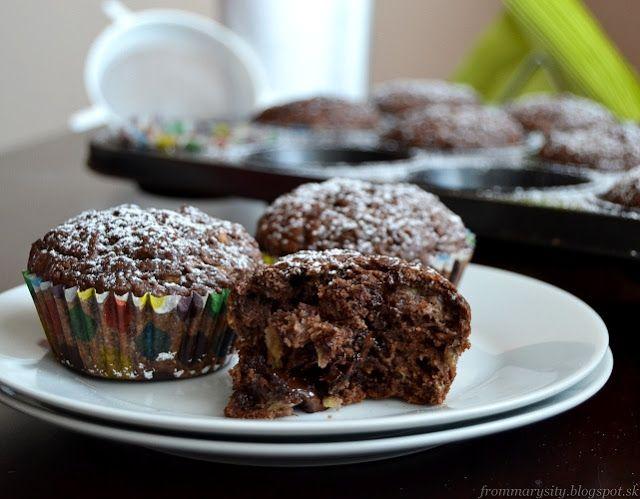 frommarysity: Kokosovo-banánové muffiny s čokoládou