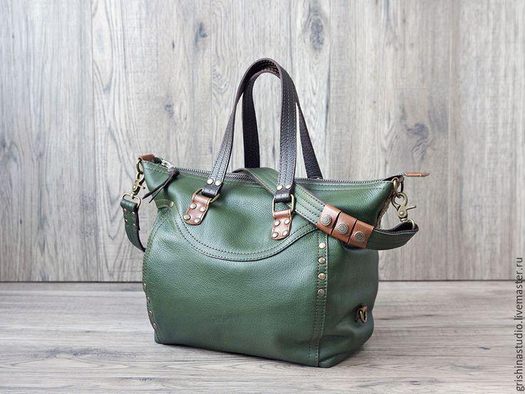"""Купить Сумка """"Зеленый Экспресс"""" - сумка женская, зеленая сумка, зеленый, Сумка авторская"""