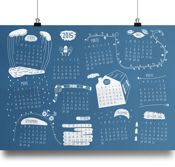 Calendario 2015 by Ana Robiola, via Behance