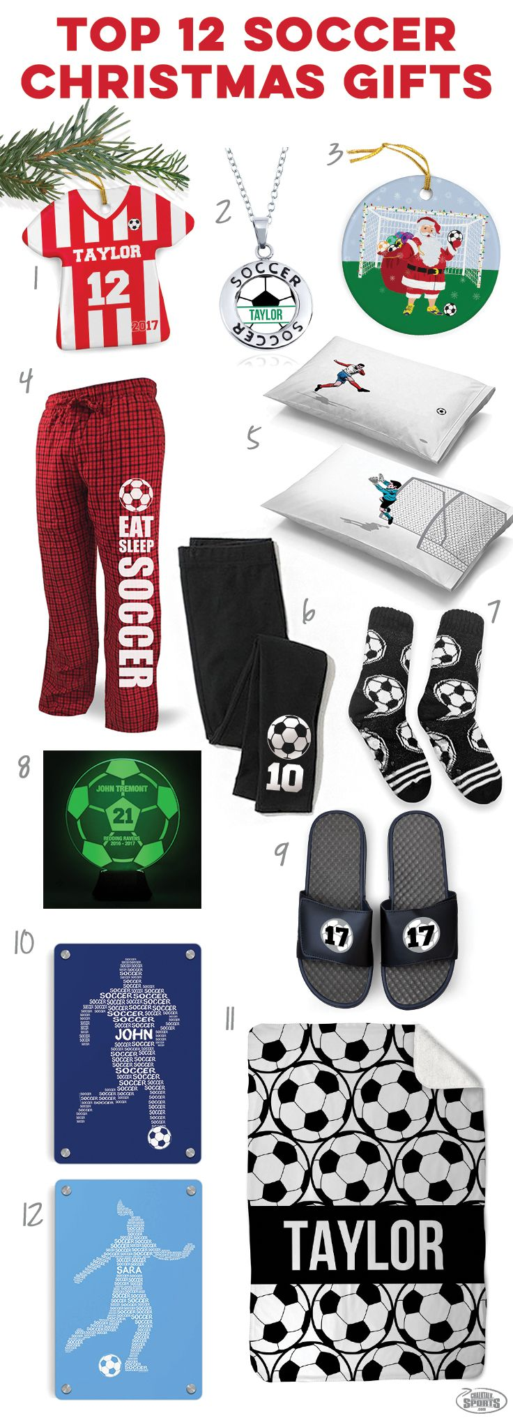 Check out these great holiday soccer gift ideas! Click to see more details on our top 12 soccer player gift ideas. Unique soccer Christmas gifts you c…