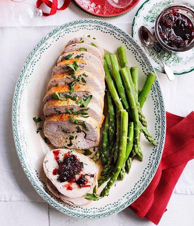 Stephanie Alexander: Turkey roll with sour cherry relish - Gourmet Traveller