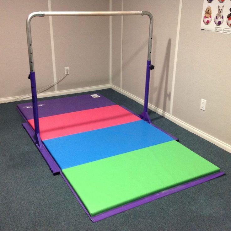 tumbl trak gymnastics junior kip bar and extensions u0026 high quality mat excellent