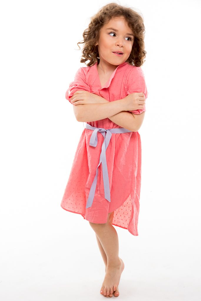 The shirt dress designed in miniature for your little ones and tailored in soft textures and warm colors to make the fashion for girls easy to wear. With love from Designers for kids