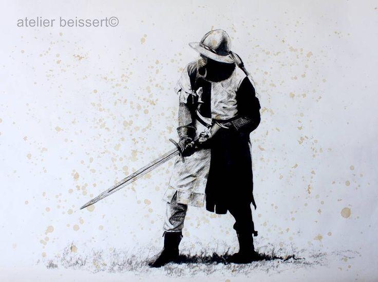 der Hussit (005) Mitglied einer Reenactment-Gruppe zur Darstellung der mittelalterlichen Historie in Naumburg 2010. Die Hussiten wurden von den meisten böhmischen Adeligen unterstützt und richteten sich hauptsächlich gegen die böhmischen Könige, die damals gleichzeitig das Amt des römisch-deutschen Kaisers bekleideten, und gegen die römisch-katholische Kirche. Infolge der Auseinandersetzungen kam es in den Jahren 1419–1434 zu den Hussitenkriegen.(Wikipedia)