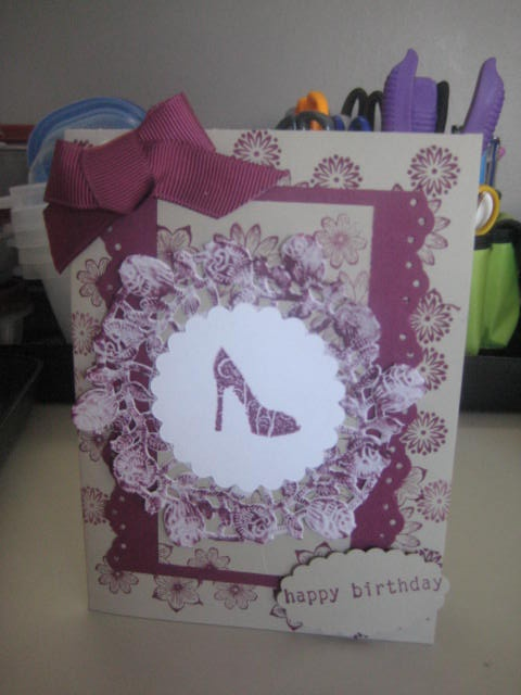 card i made with a dollie