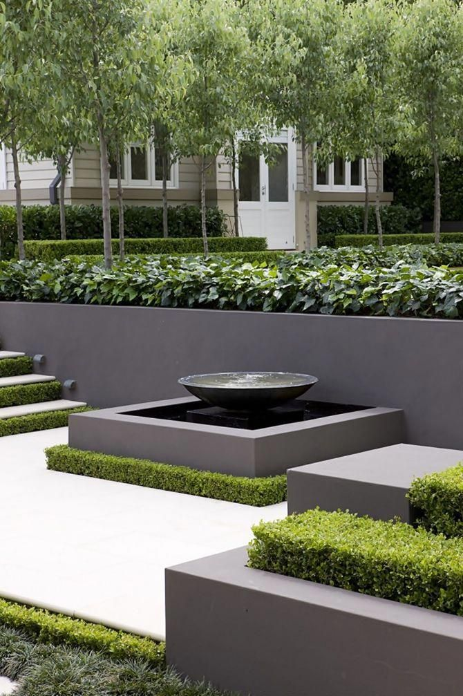 Create A Garden To Remember With This Useful Advice Useful Garden Ideas And Tips Modern Landscaping Modern Garden Design Water Features In The Garden