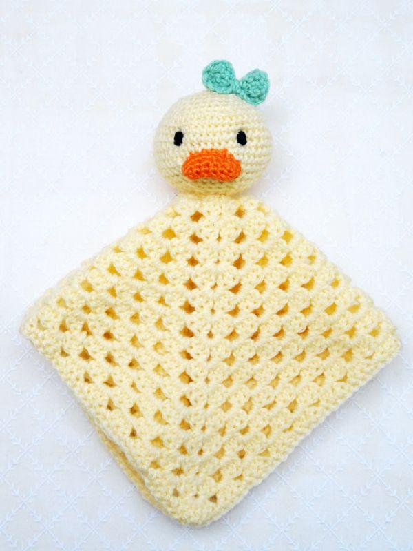 Schnuffeltuch Ente Häkeln Kostenlose Häkelanleitung Baby