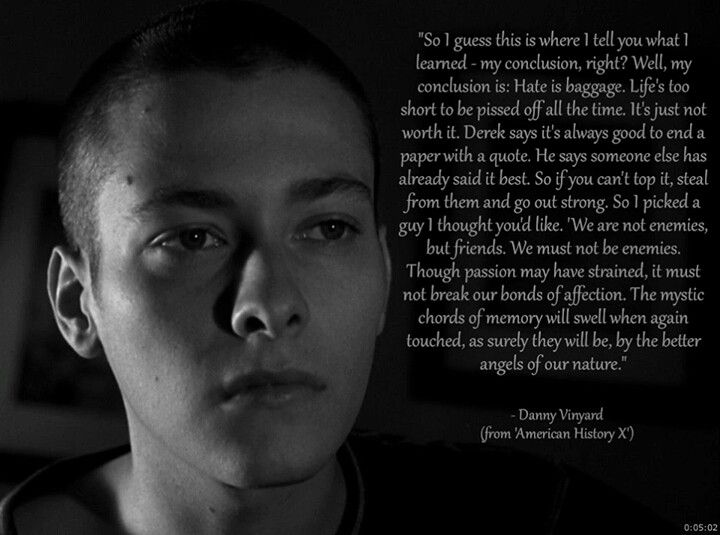 Quote from American History X