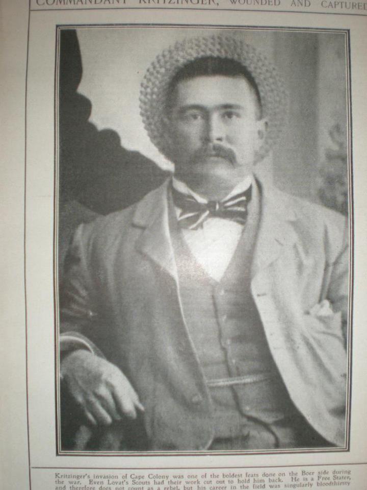 Photo Boer commandant Kritzinger 1902