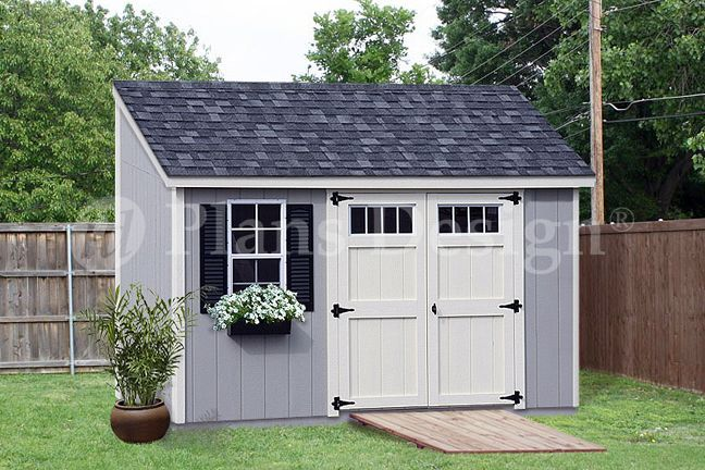 Lean to shed plans great storage solution if you have for Double door shed plans