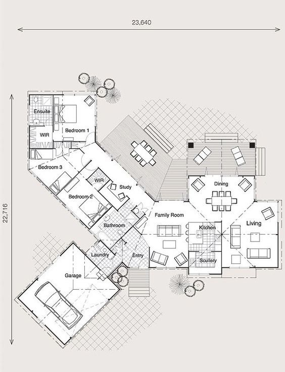 Hillside House Plans Nz North Facing House House Floor Plans Floor Plans