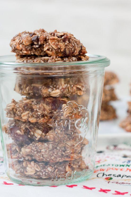 Chia Oatmeal Breakfast Cookies - Eating Bird Food