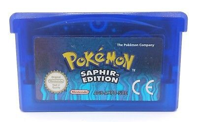 GBA: Original Pokemon Saphir Edition Gameboy Advance Spiel Nintendo Modul Only