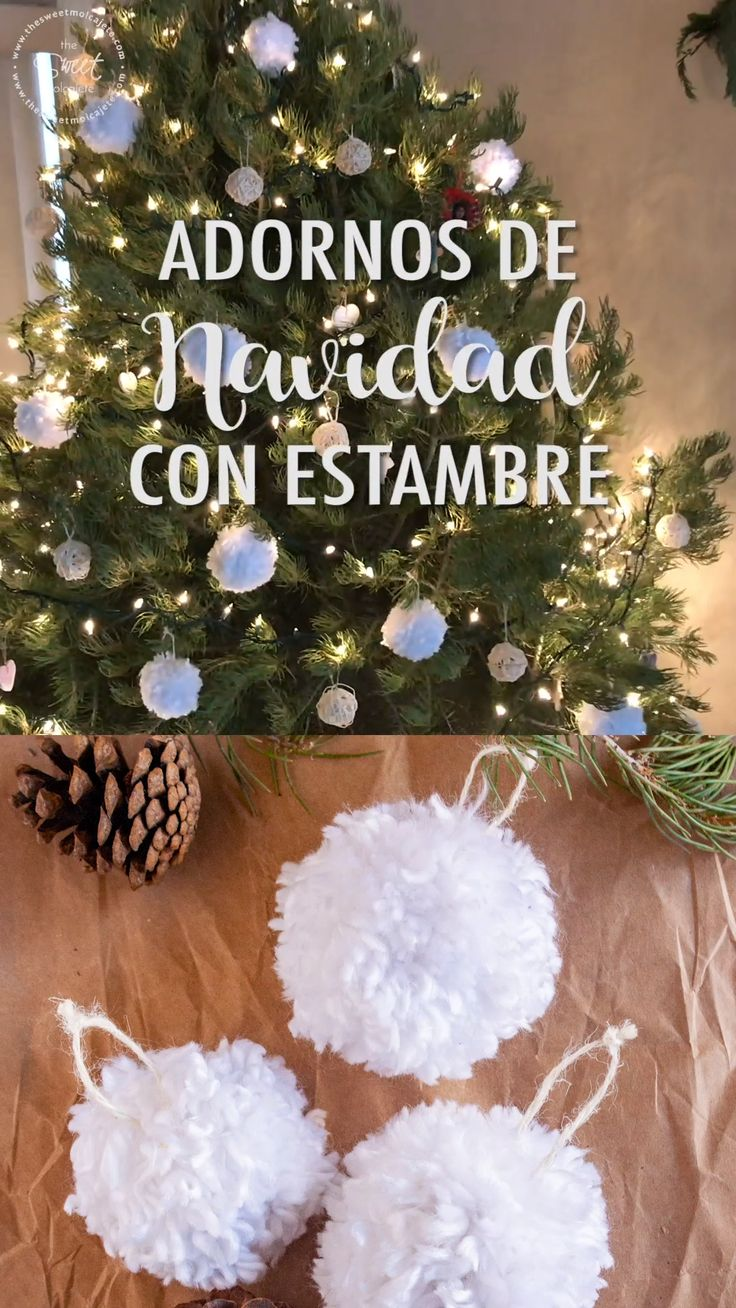 Learn how to make easy, cheap and beautiful Christmas ornaments with yarn, to decorate your tree or to make some Christmas garland. Christmas Family Feud, Diy Christmas Ornaments, Homemade Christmas, Christmas Time, Diy Adornos, Christmas Printables, Christmas Tree Decorations, Diy Christmas Decorations For Home, Holiday Crafts