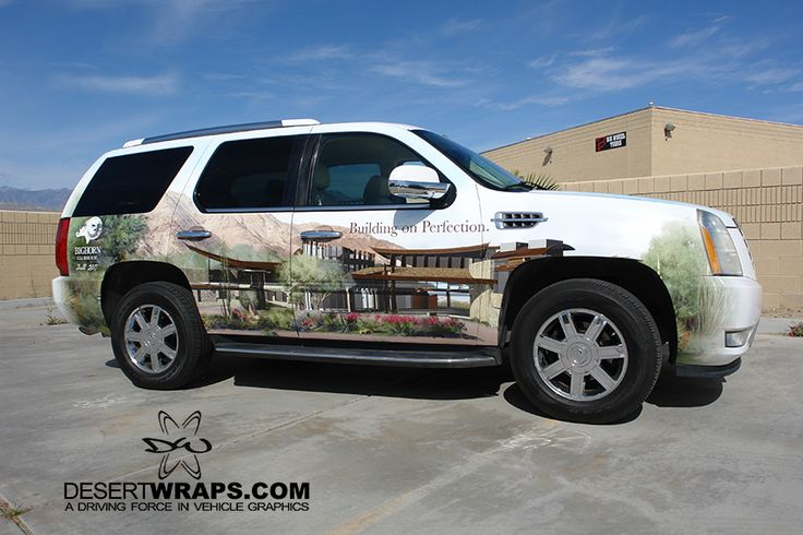 BIGHORN Golf Club wrapped an SUV to promote their new Grand Opening. DesertWraps.com wraps vehicles from Palm Desert, CA, Palm Springs, CA, San Diego, CA, Temecula, CA. 760-935-3600